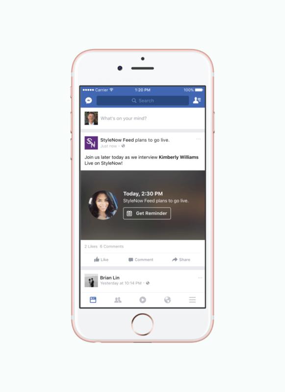 facebook live programar