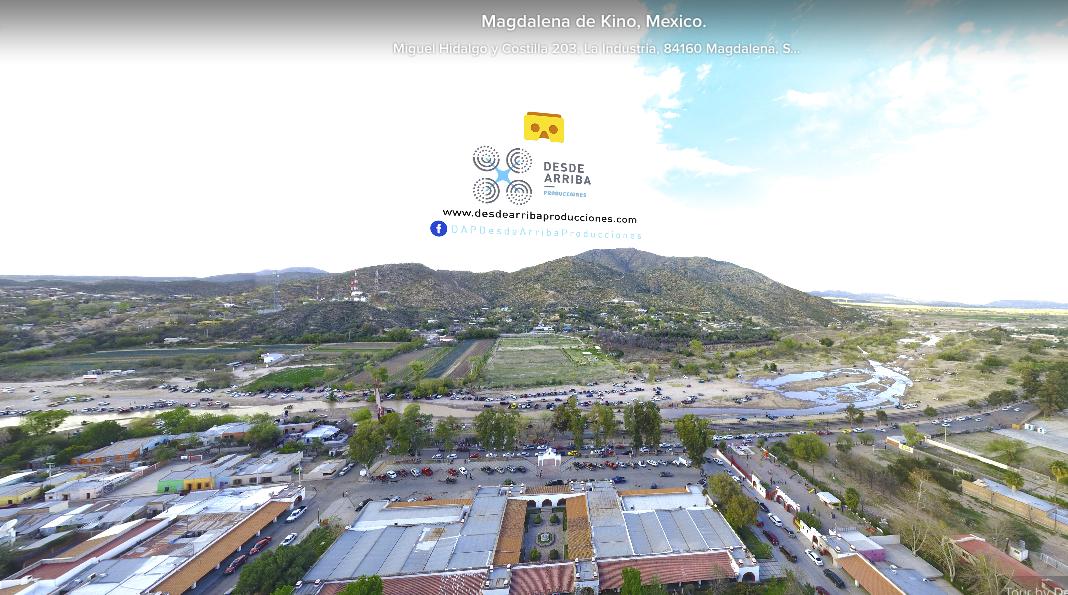 Plaza Monumental Magdalena de Kino 360 desde arriba producciones