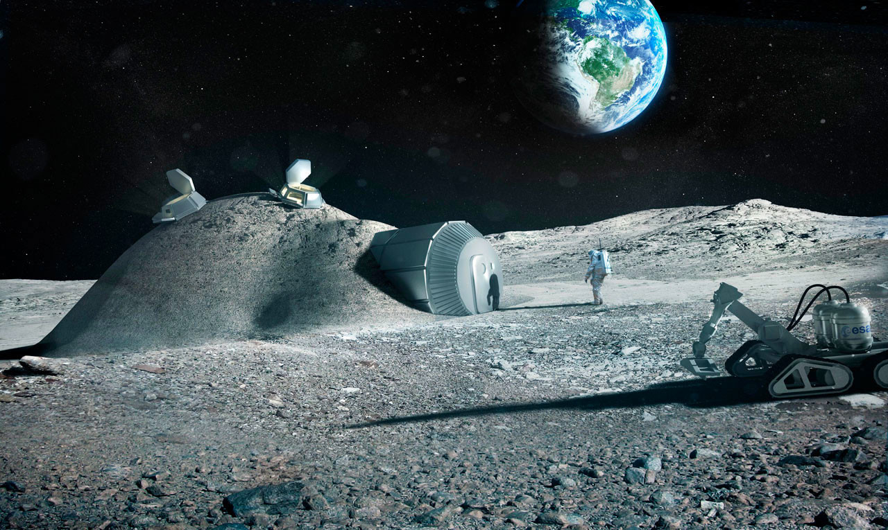cemento en el espacio